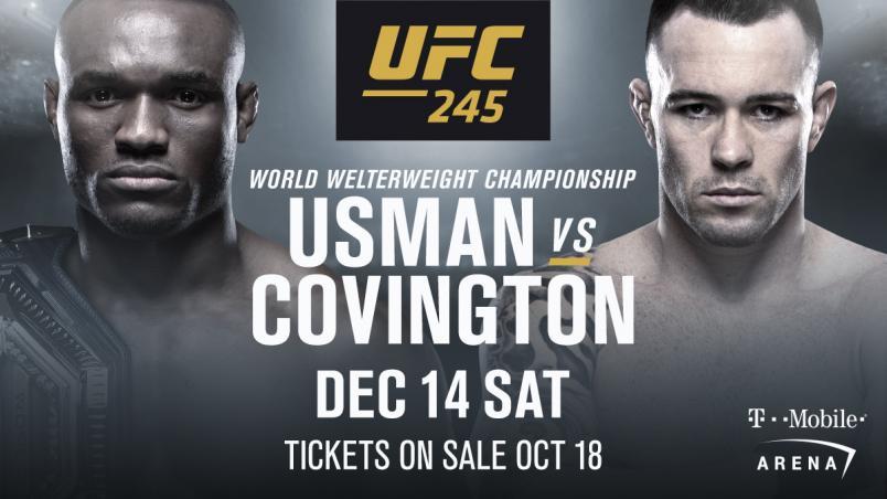 KAMARU USMAN AND COLBY COVINGTON WILL FINALLY SETTLE THE SCORE AT UFC 245: USMAN VS COVINGTON - UFC 245