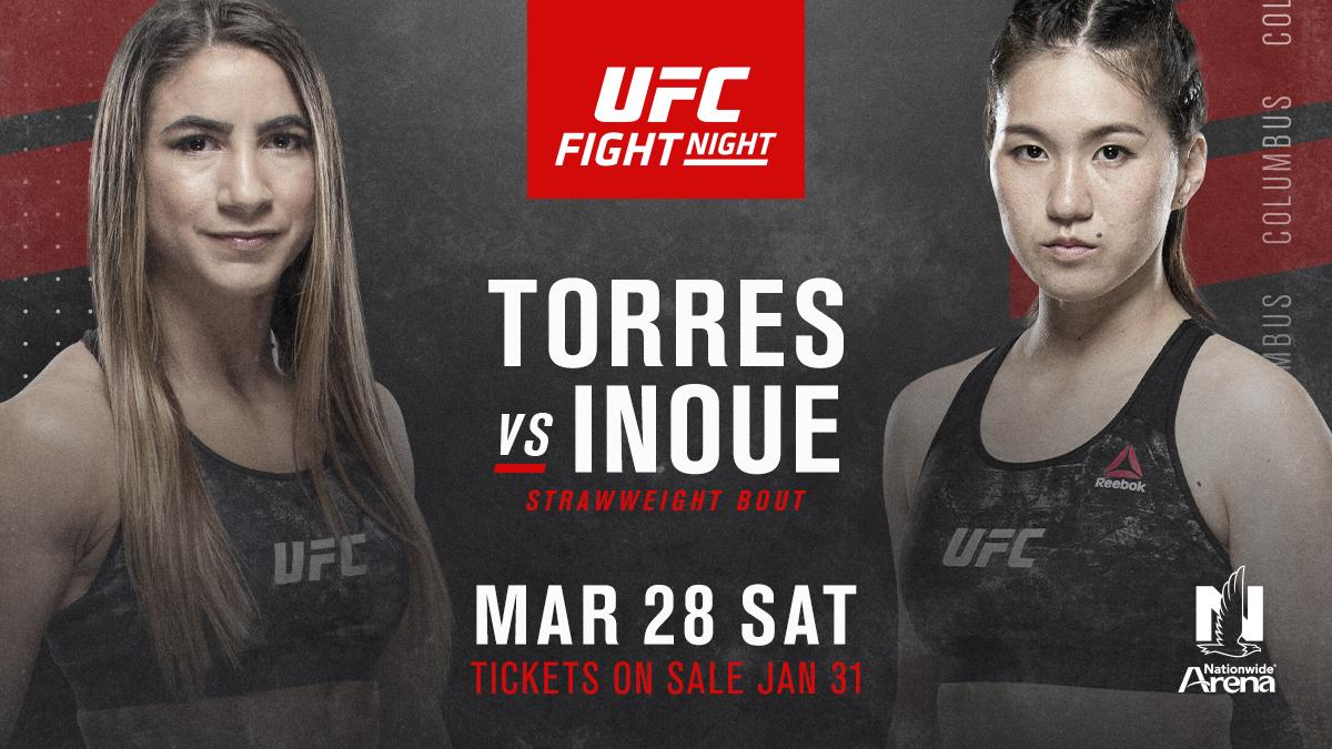 UFC NO. 13 STRAWWEIGHT TECIA TORRES TAKES ON MIZUKI INOUE AT UFC FIGHT NIGHT: NGANNOU VS ROZENSTRUIK - Rozenstruik