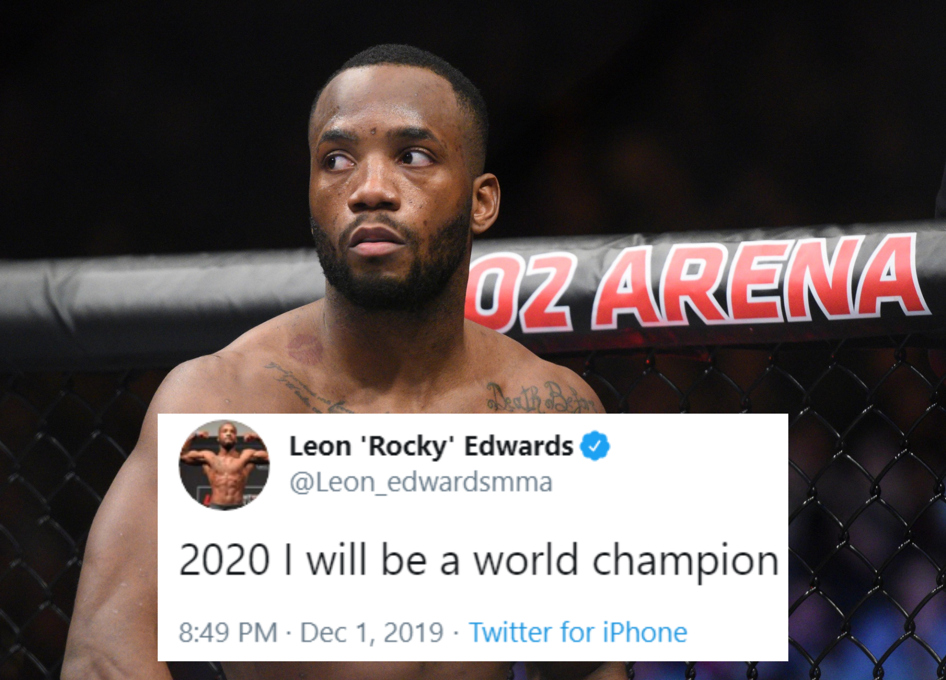 Leon Edwards makes a bold prediction for 2020! - Edwards