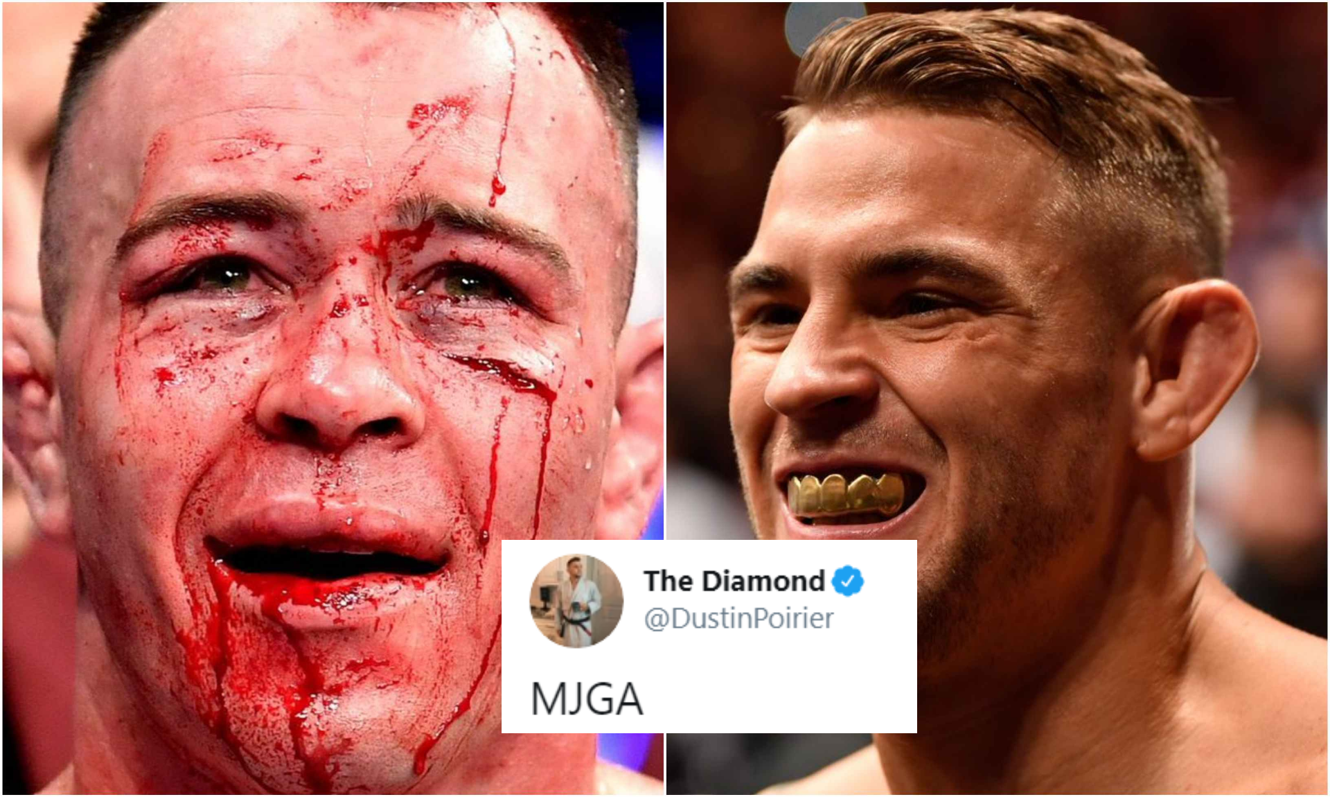 Dustin Poirier references Colby Covington's broken jaw in troll tweet after UFC 245 - Dustin