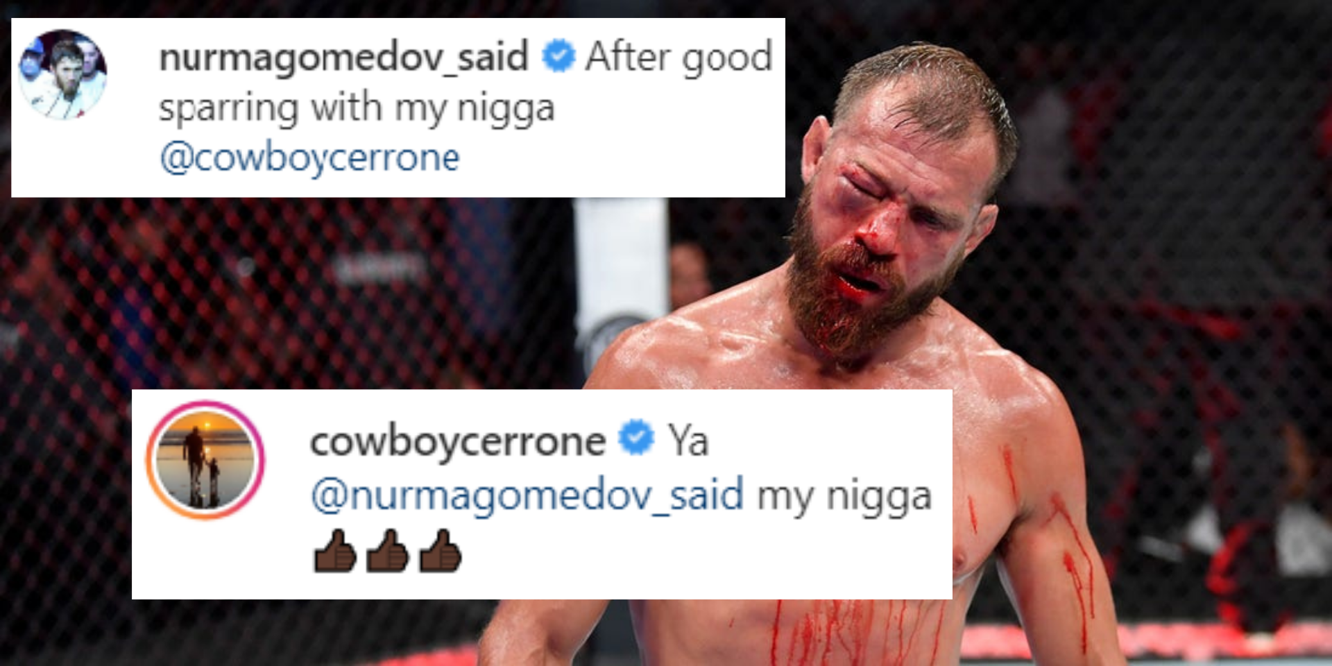 Cowboy Cerrone and Said Nurmagomedov refer to each other as 'my ni**a' after a sparring session - Nurmagomedov