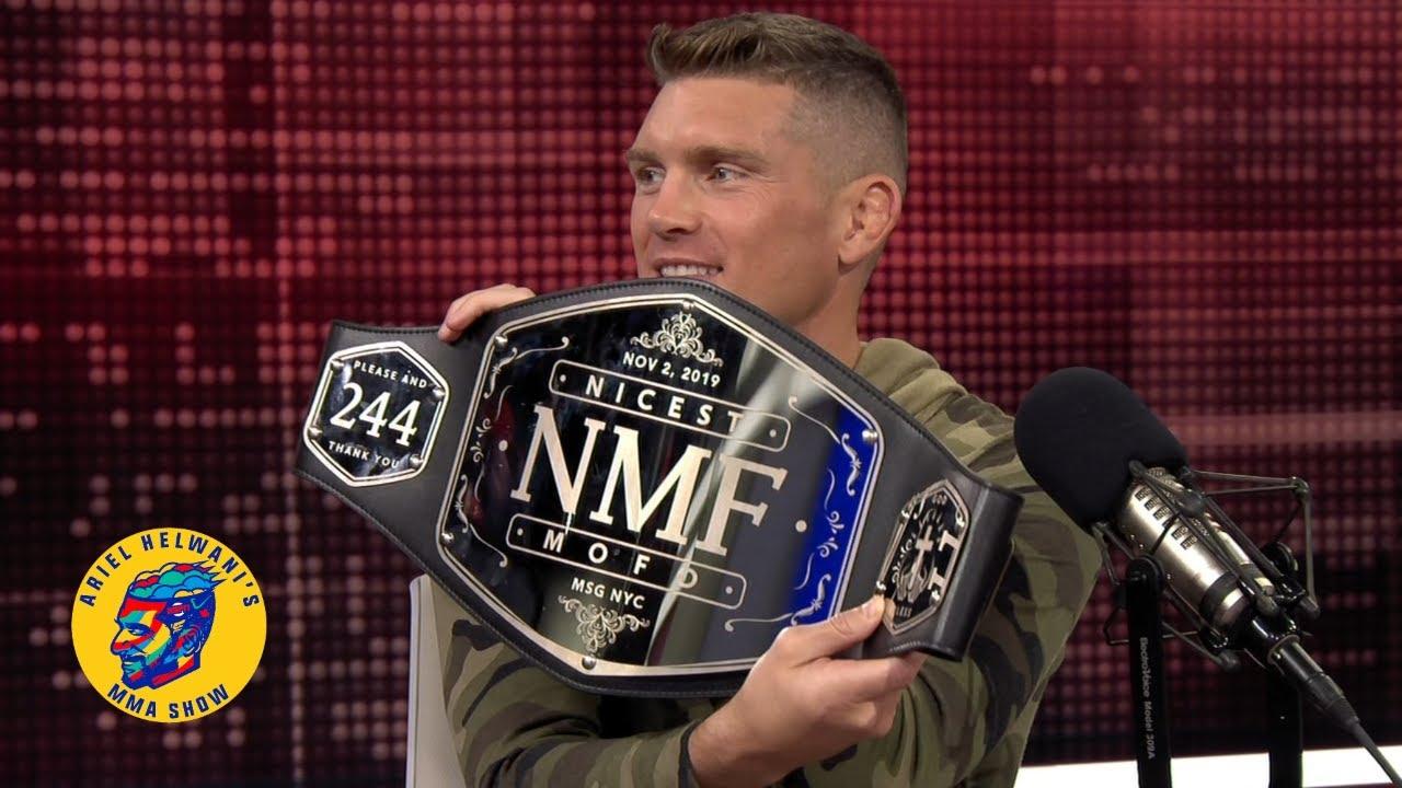 Watch: Stephen 'Wonderboy' Thompson receives the Nicest M'fer belt from Ariel Helwani - Thompson