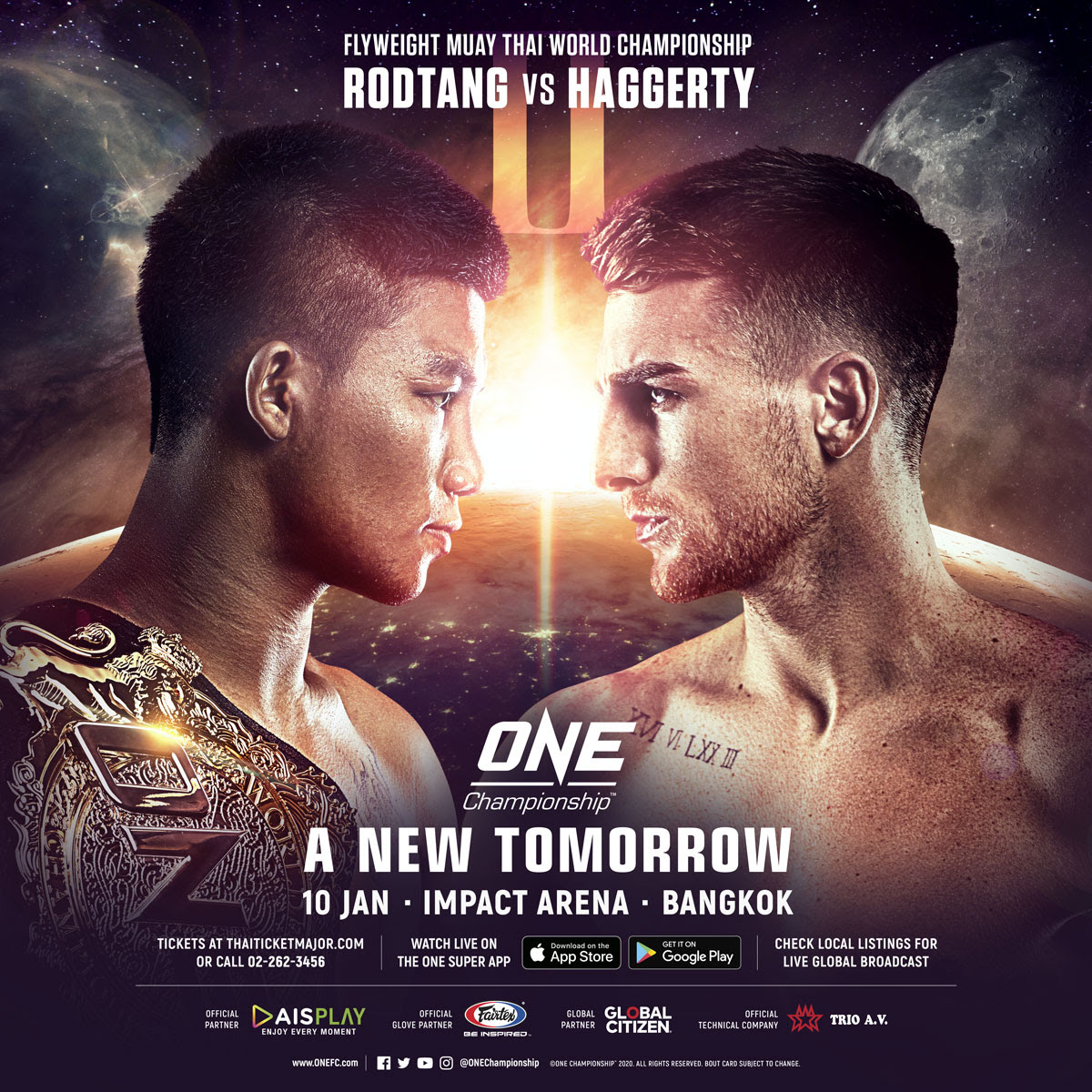 RODTANG JITMUANGNON TO DEFEND ONE FLYWEIGHT MUAY THAI WORLD TITLE AGAINST JONATHAN HAGGERTY IN REMATCH -