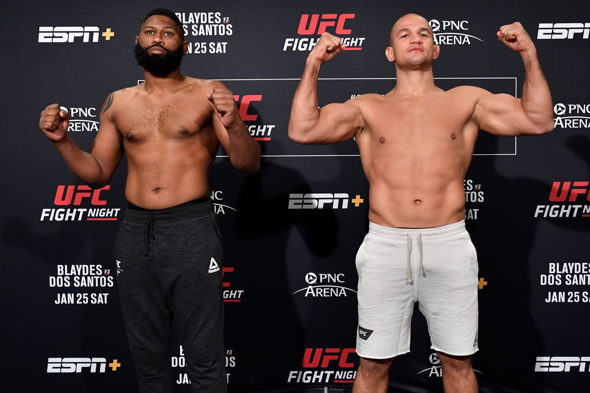 UFC Fight Night Blaydes vs. Dos Santos - Play by Play Updates & LIVE Results -