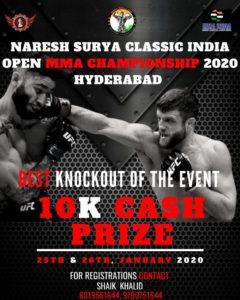 MMA India Exclusive: Shaik Khalid on the Naresh Surya Classic India Open MMA Championship 2020 - Naresh Surya