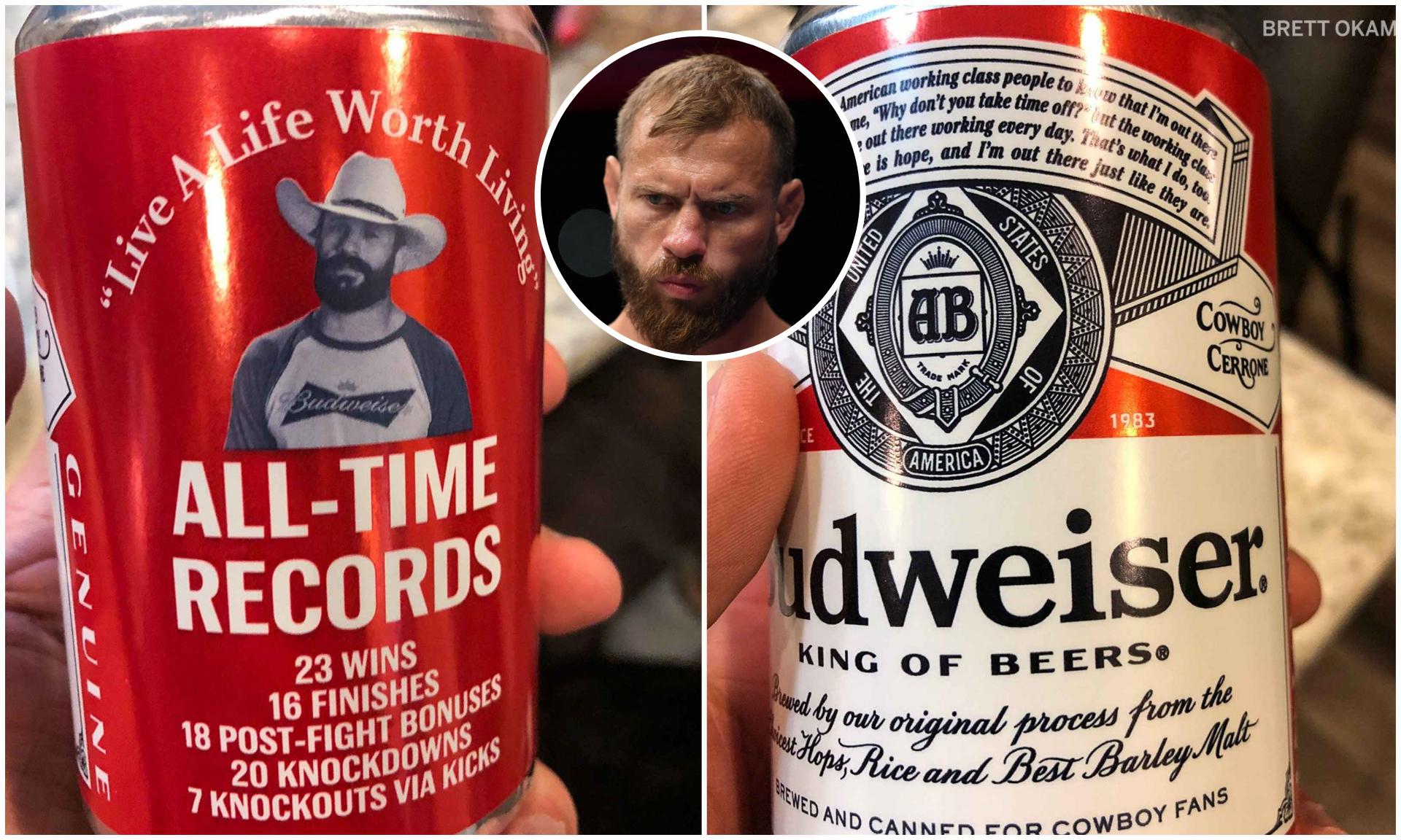 Watch: Budweiser manufactures custom 'Cowboy' beer cans ahead of UFC 246 - Budweiser
