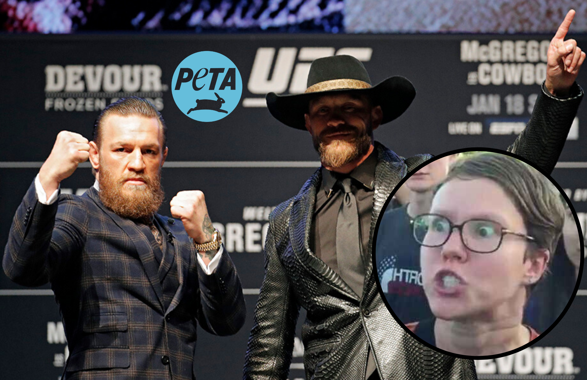 UFC News: PETA trashes 'cowards' Conor and Cowboy for boasting about wearing animal skin - PETA