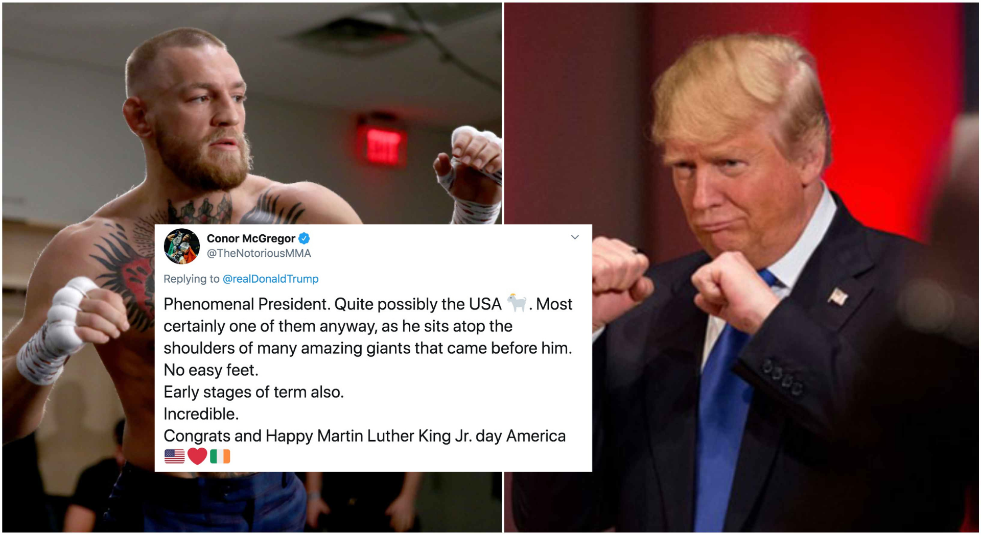 Conor McGregor full of praise for Donald Trump; calls him the USA GOAT! - Donald