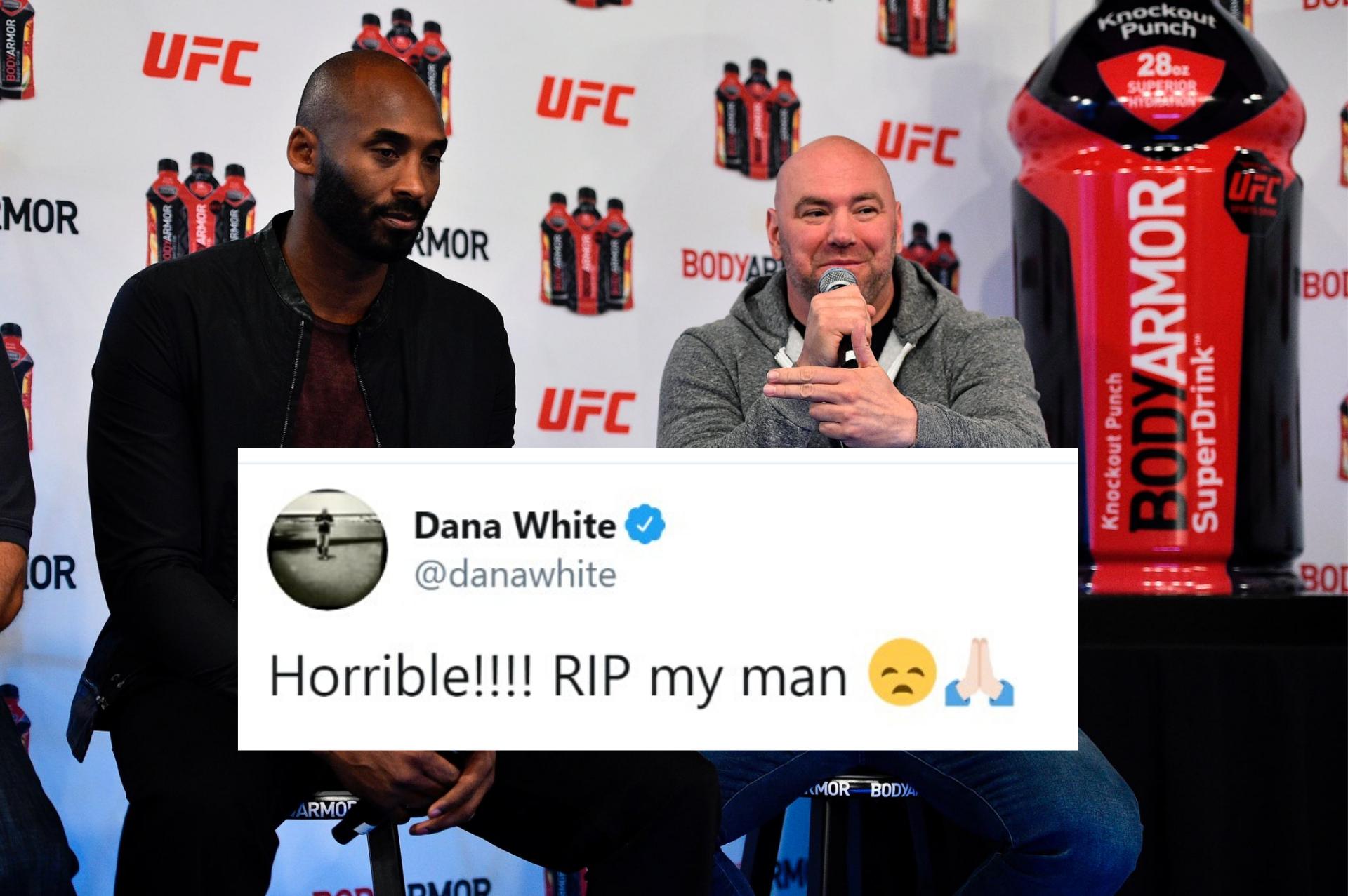 MMA world unites in tribute to one of the GOATs Kobe Bryant - Kobe