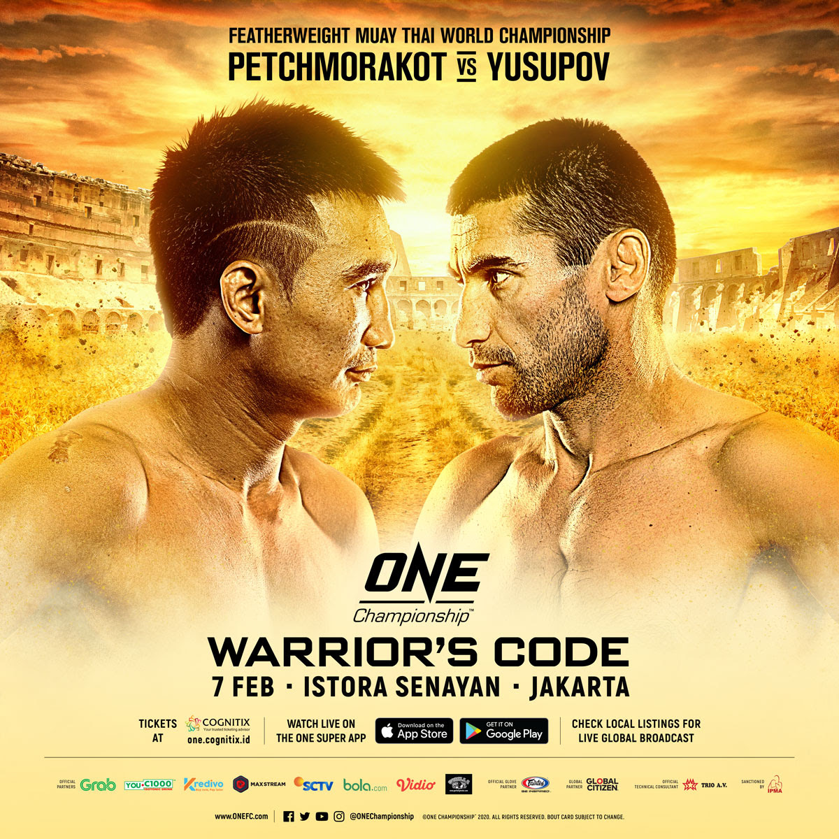 COMPLETE CARD ANNOUNCED FOR ONE: WARRIOR'S CODE IN JAKARTA ON 7 FEBRUARY -