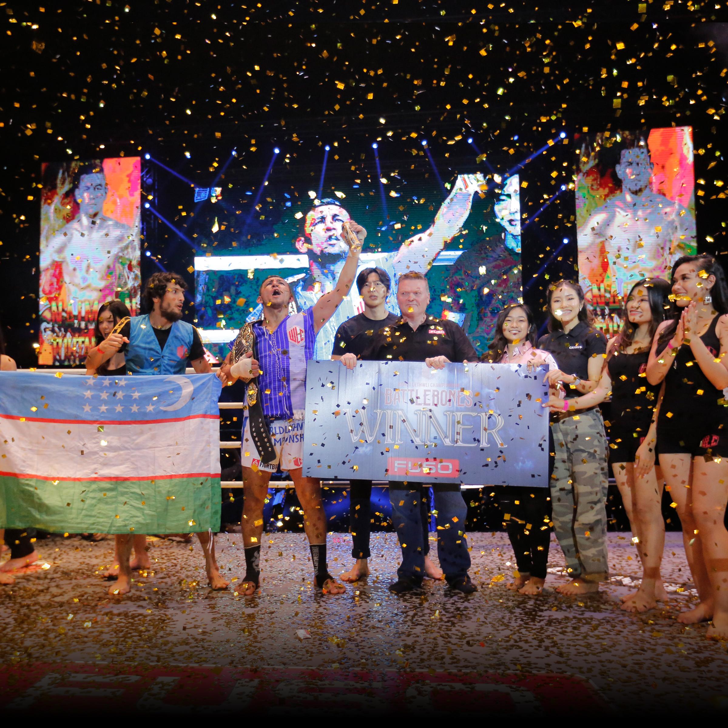 UZBEKISTAN'S NAIMJON TUHTABOYEV BECOMES NEW MIDDLEWEIGHT WORLD LETHWEI CHAMPION -