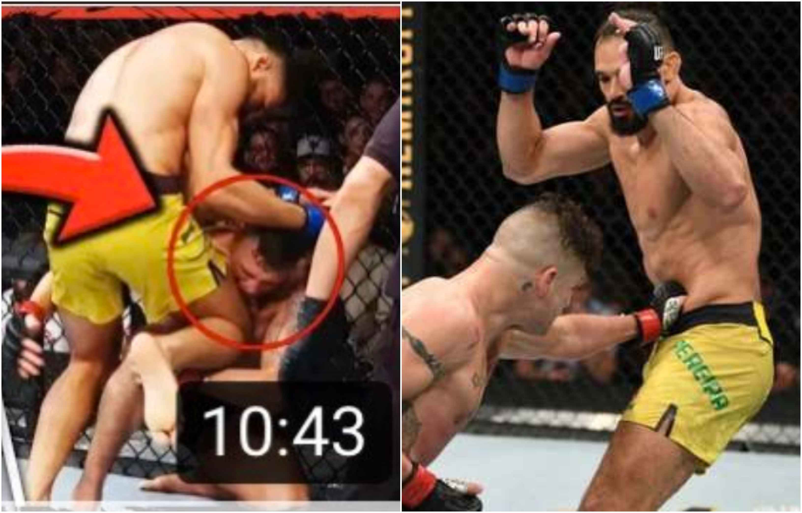 UFC News: Michel Pereira provides photo evidence that his 'illegal' knee on Diego Sanchez didn't land - Pereira