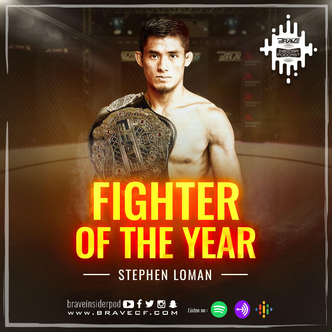 Champion Stephen Loman is BRAVE CF's 'Fighter of The Year' for the second year running -