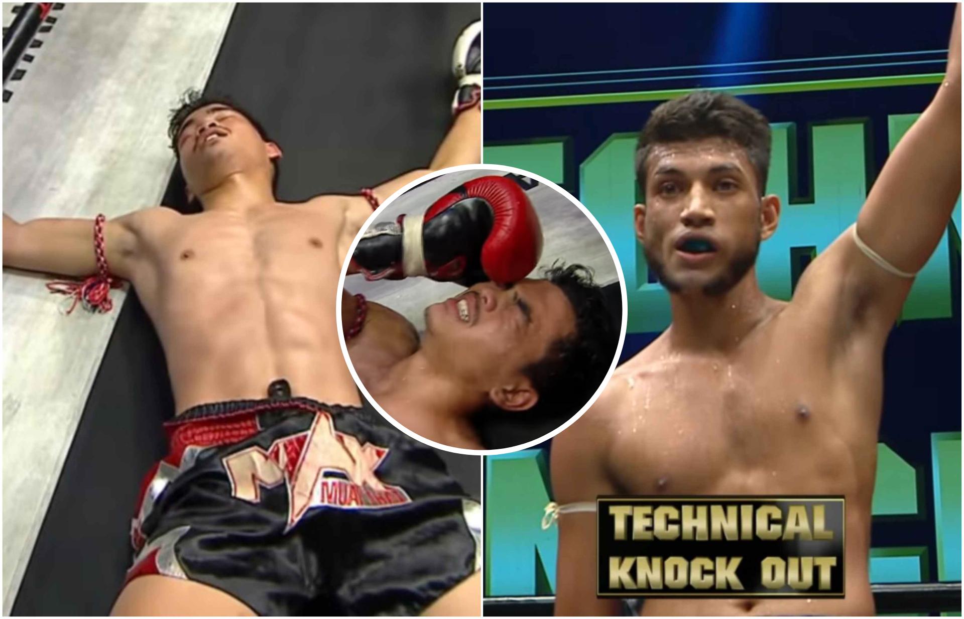 India's Surya Sagar scores a brutal KO win in a Muay Thai event in Thailand - Surya