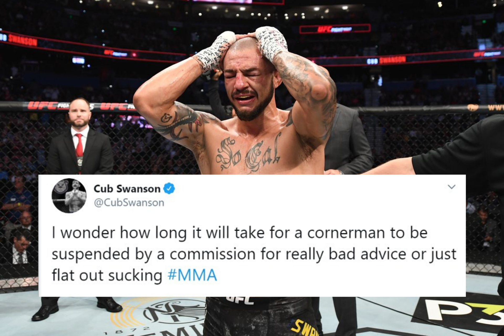 UFC News: Cub Swanson wants cornermen who 'flat out suck at MMA' to be suspended for bad advice in between rounds - Cub