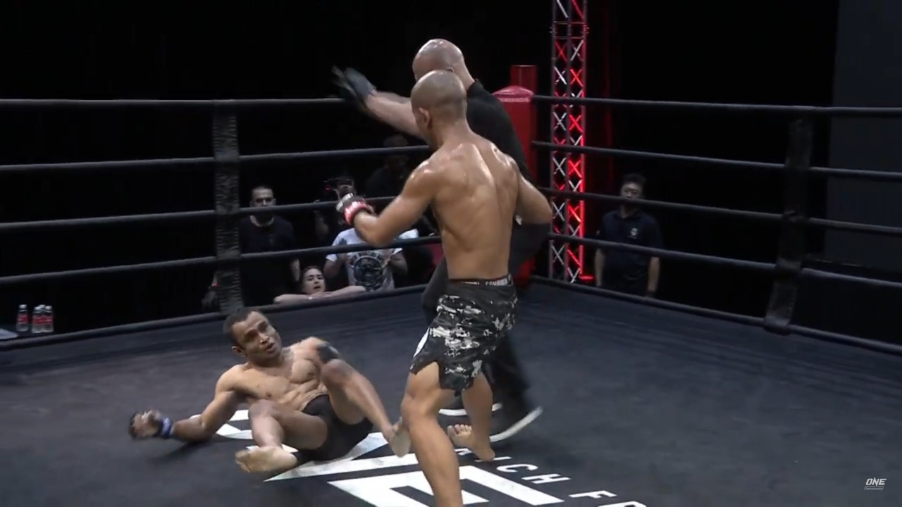 VIDEO: Adib Sulaiman defeats Susovan Ghosh via TKO in the second round at ONE Warrior Series 10 - ONE championship