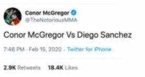 Conor McGregor and Diego Sanchez