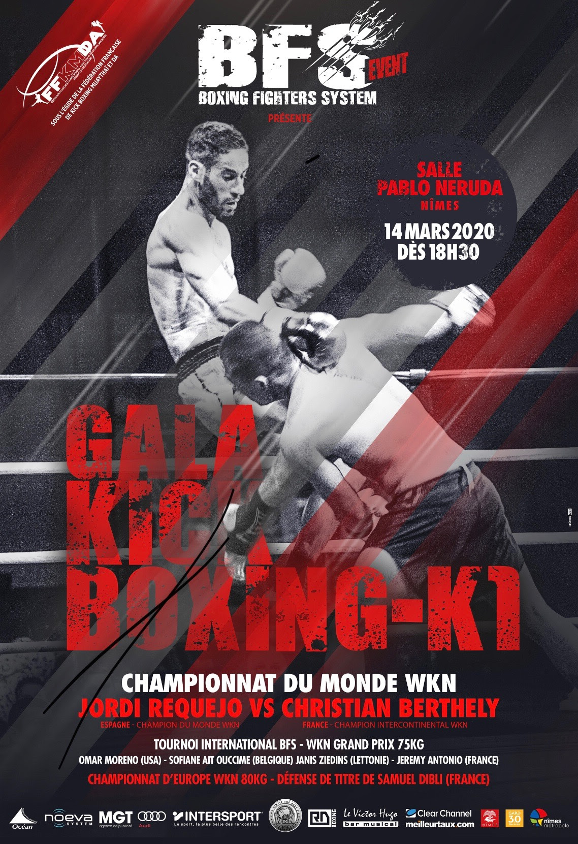 Boxing Fighters System 2: Three WKN titles on the line in Nimes, France -