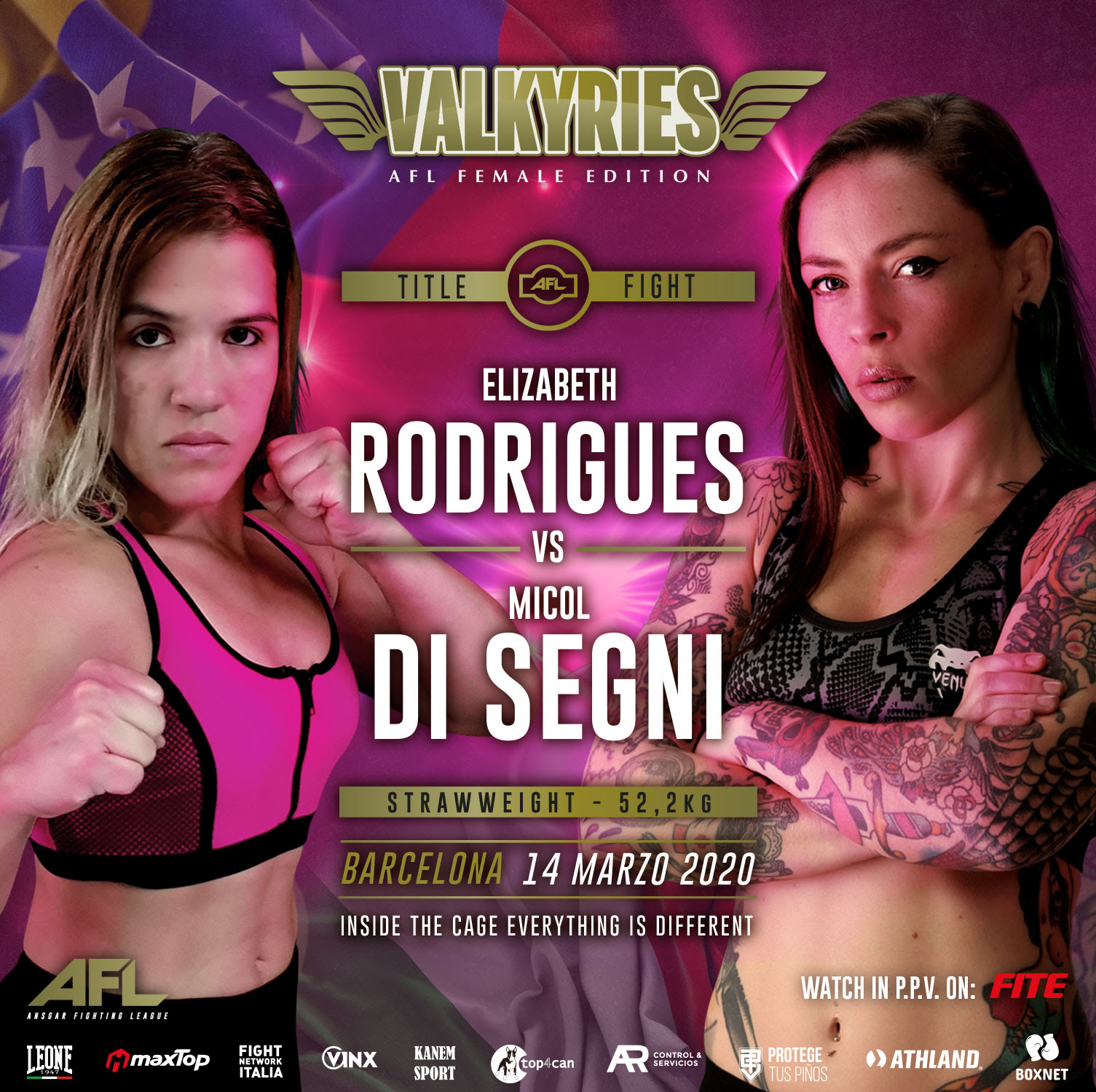 AFL Valkyries - Europe's First Major All-Female MMA Event -
