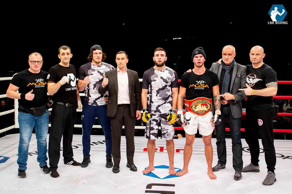 Daniil Vesnenoks decisions Aleksander Kolontay to retain WKN European featherweight MMA title -