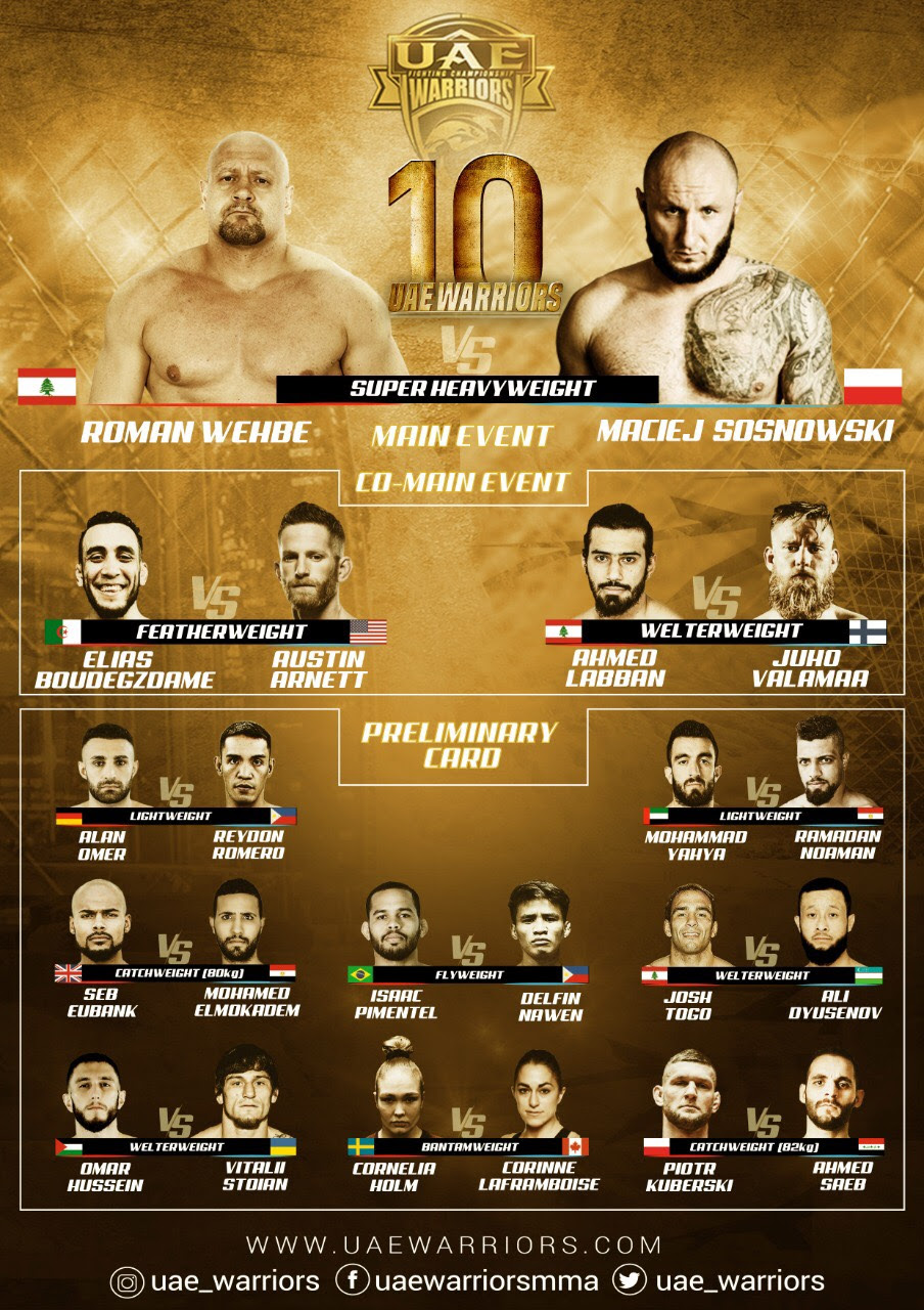 UAE WARRIORS 10 Live Stream -