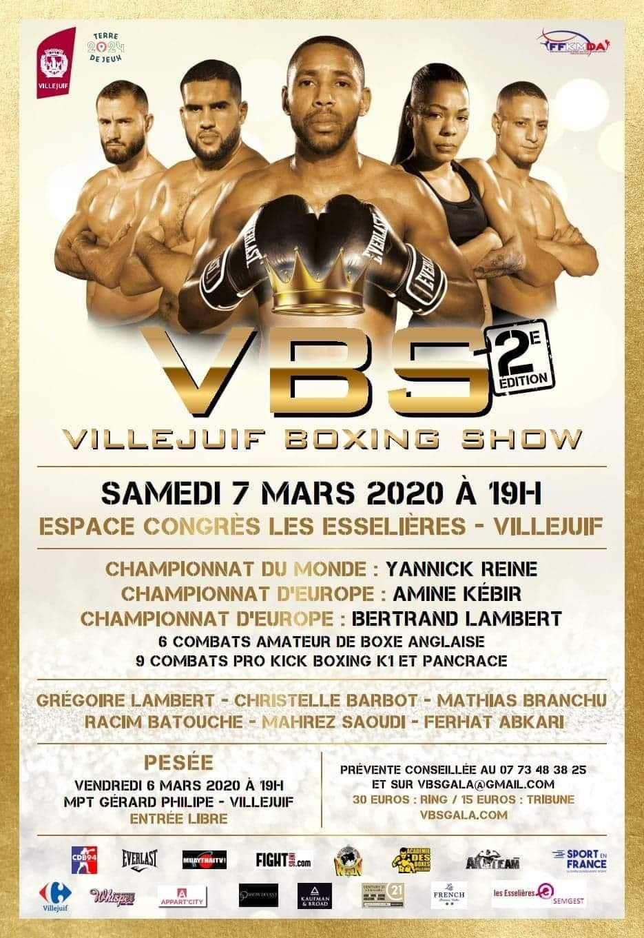 Three WKN titles on the line at Villejuif Boxing Show 2 -