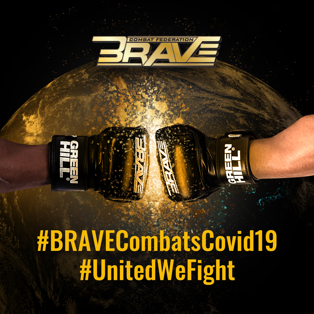 BRAVE CF's worldwide roster of fighters join global campaign against coronavirus -