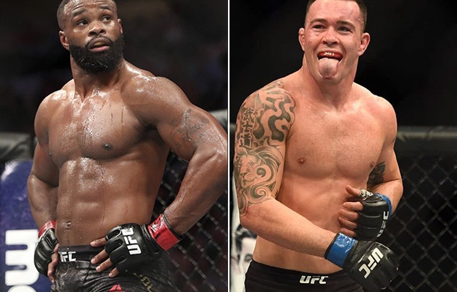 Colby Covington and Tyron Woodley