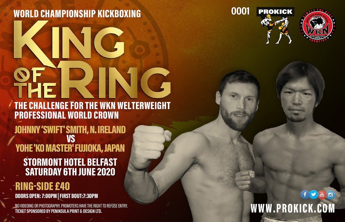 PROKICK King of the Ring in Belfast: Smith vs Fujioka for WKN World welterweight title -