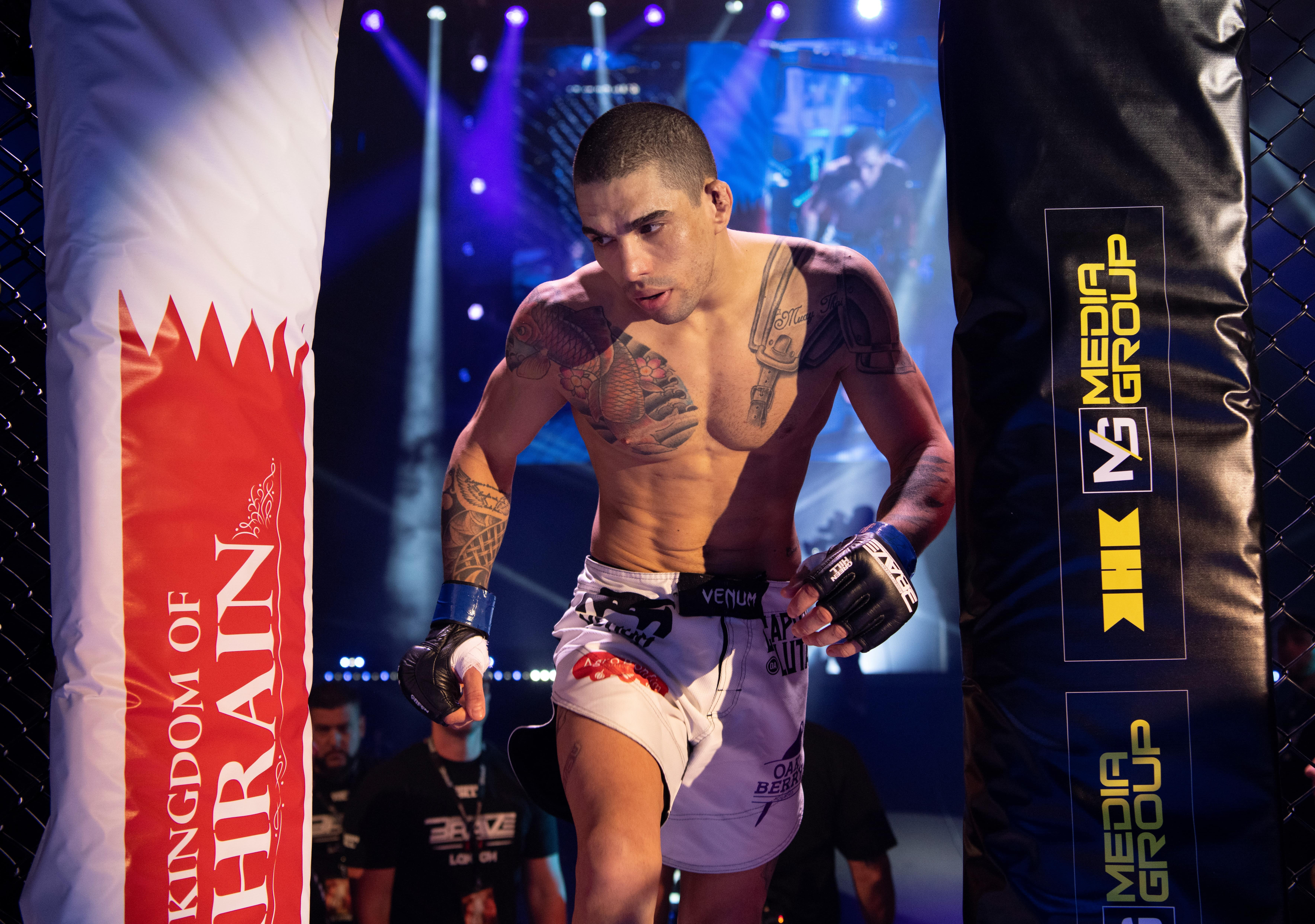 BRAVE CF's Lucas Mineiro: the former waiter now only serves knockouts -