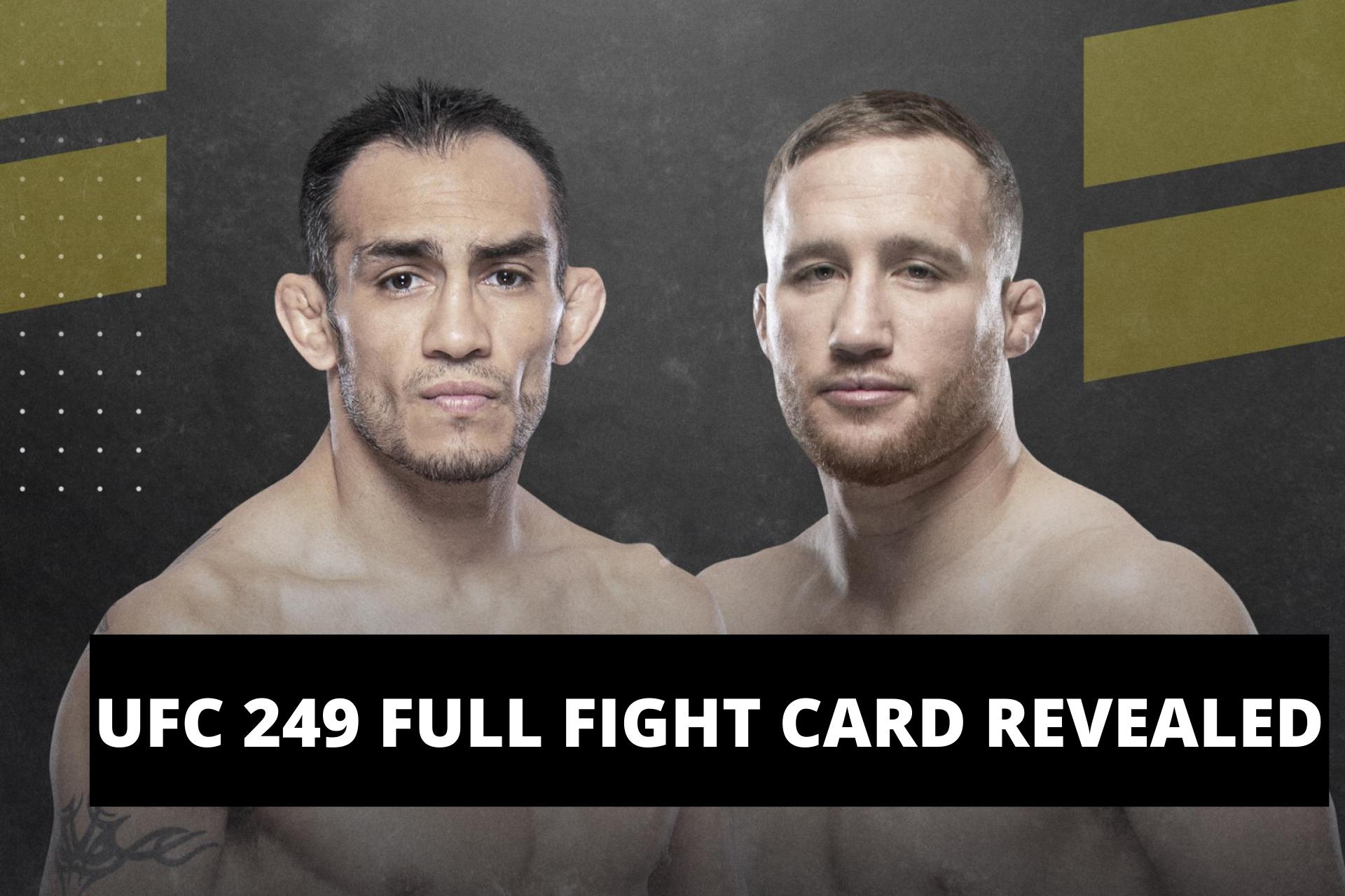 UFC News: UFC 249 full fight card has been announced! - UFC 249