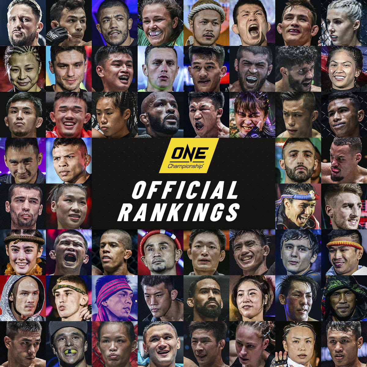 ONE CHAMPIONSHIP UNVEILS FIRST OFFICIAL ATHLETE RANKINGS -