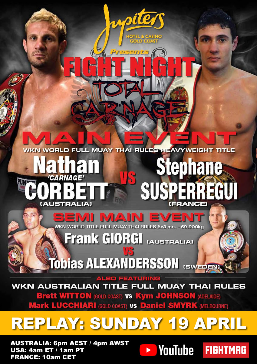 REPLAY Total Carnage: Nathan Corbett vs Stephane Susperregui on Sunday, April 19 -