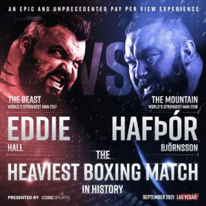 Thor Bjornsson to make combat sports debut opposite former World's Eddie Hall in 2021