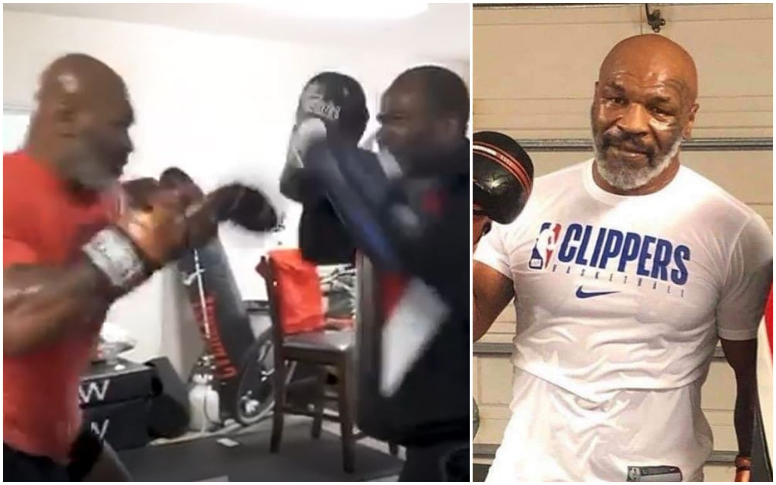 New bone chilling video emerges of  a scary Mike Tyson destroying mitts! - Mike Tyson