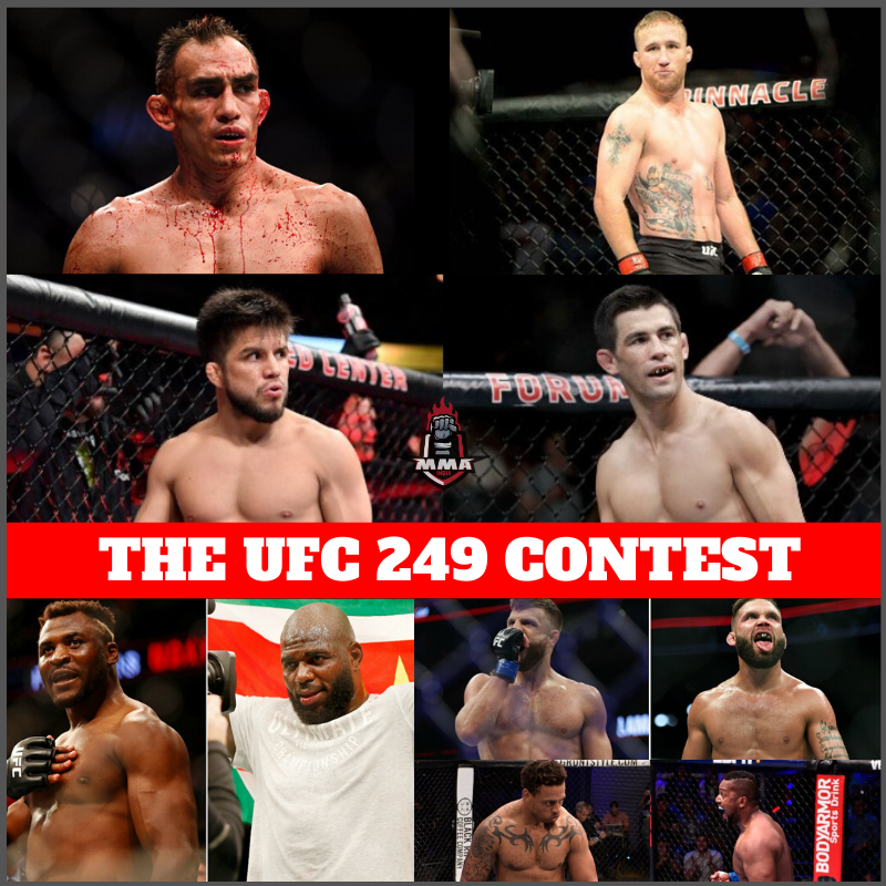 THE UFC 249 CONTEST -