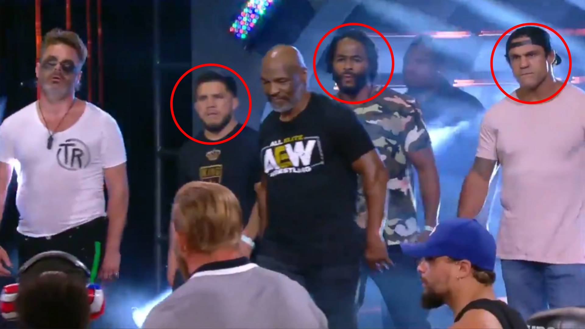 3 former UFC Champions show up with Mike Tyson to fight on AEW! - Mike Tyson