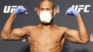 UFC fighter Jacare Souza following the guidelines