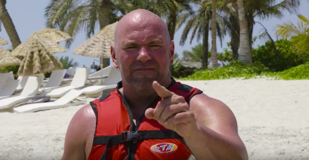 Dana White claims he's going to live in fight island for a month! - Dana White