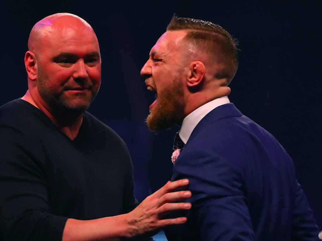 Dana White loses his head at media after 'f***ing bulls*it' Conor McGregor coverage! - Dana White