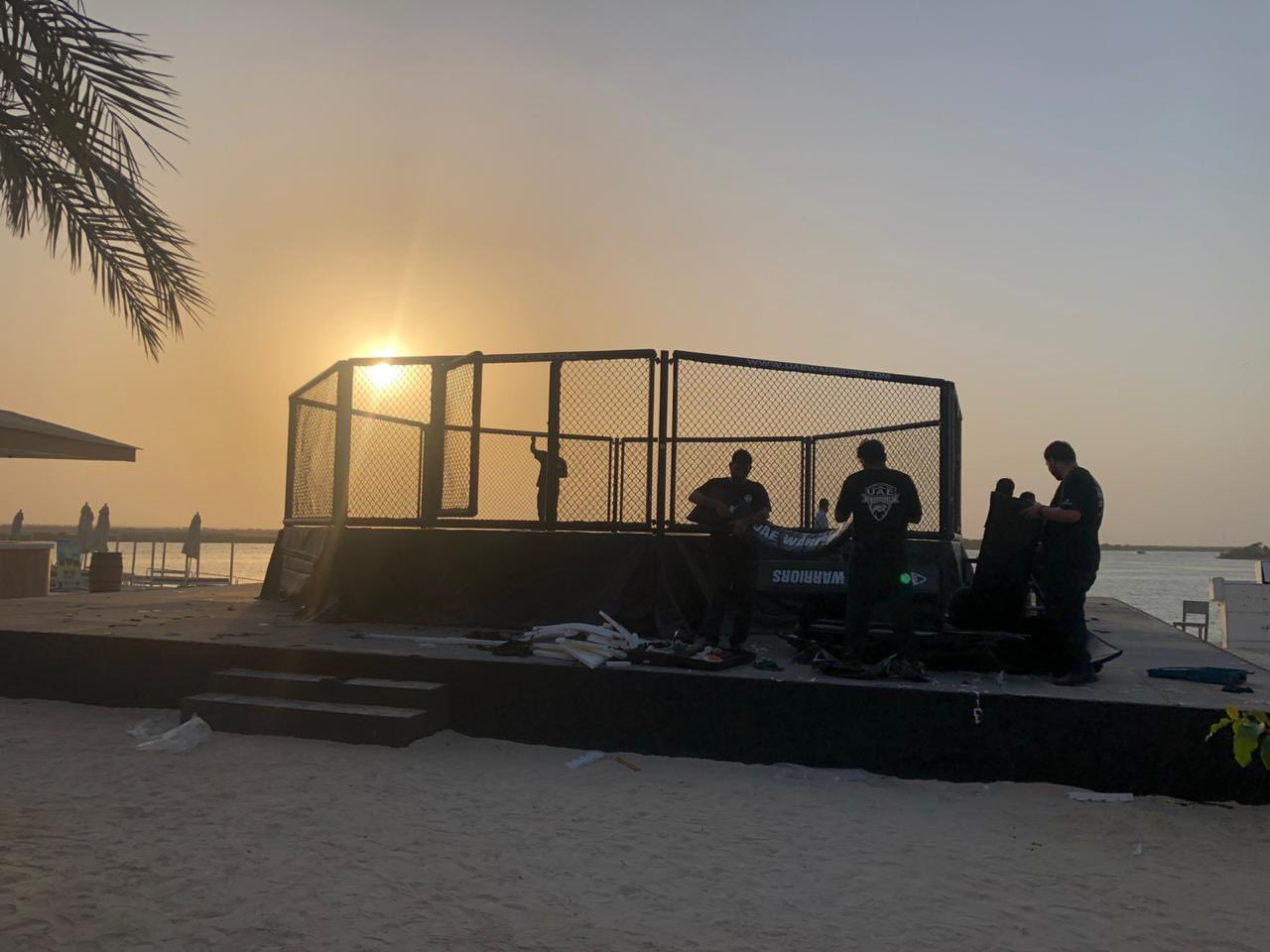 Dana White reveals image of Fight Island Octagon...and there's a beach involved! - Dana White