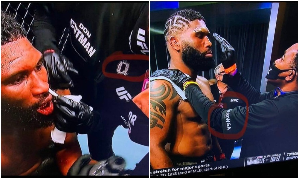 UFC cutman caught on camera showing support to alleged 'domestic terrorist group' - UFC