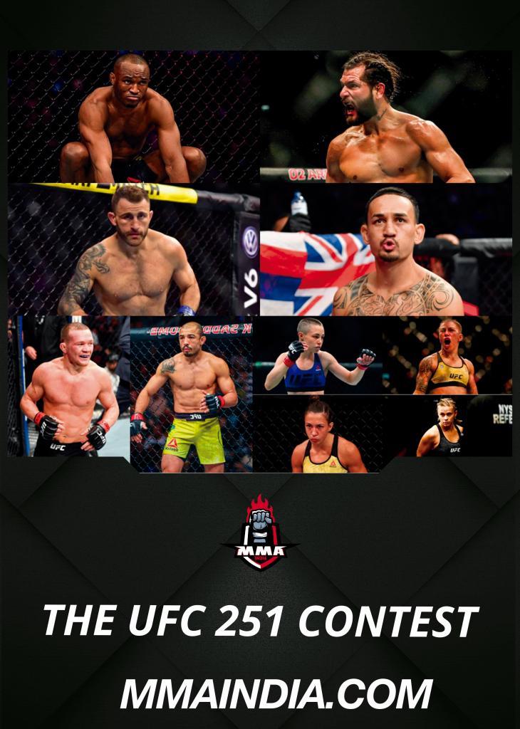 THE UFC 251 CONTEST  | MMA INDIA SHOW - THE UFC 251 CONTEST