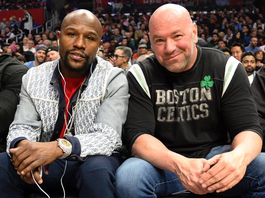 Dana White claims he is in talks with Floyd Mayweather for a fight - Mayweather