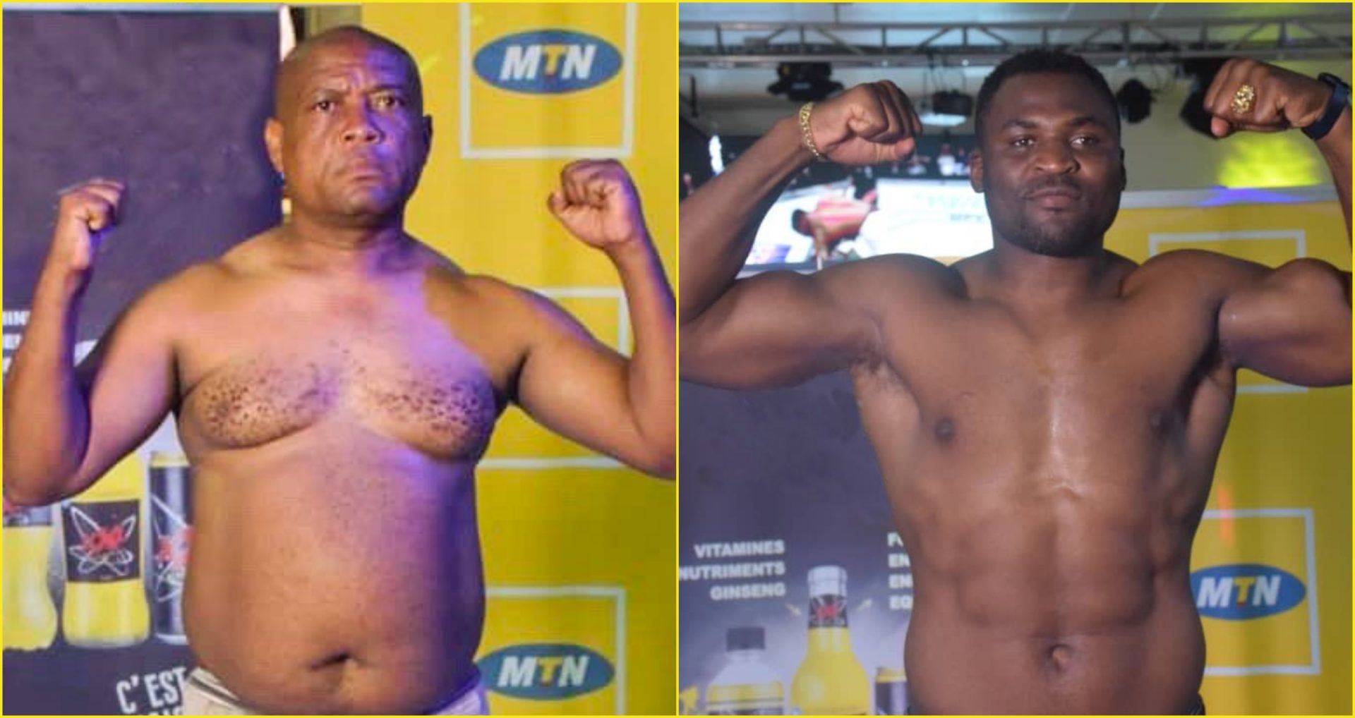 Francis Ngannou beats stand-up comedian Hoga in a charity match - Francis Ngannou