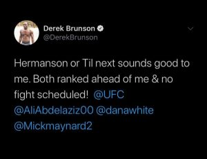 Derek Brunson eyes fight with Jack Hermansson and Darren Till - Derek Brunson