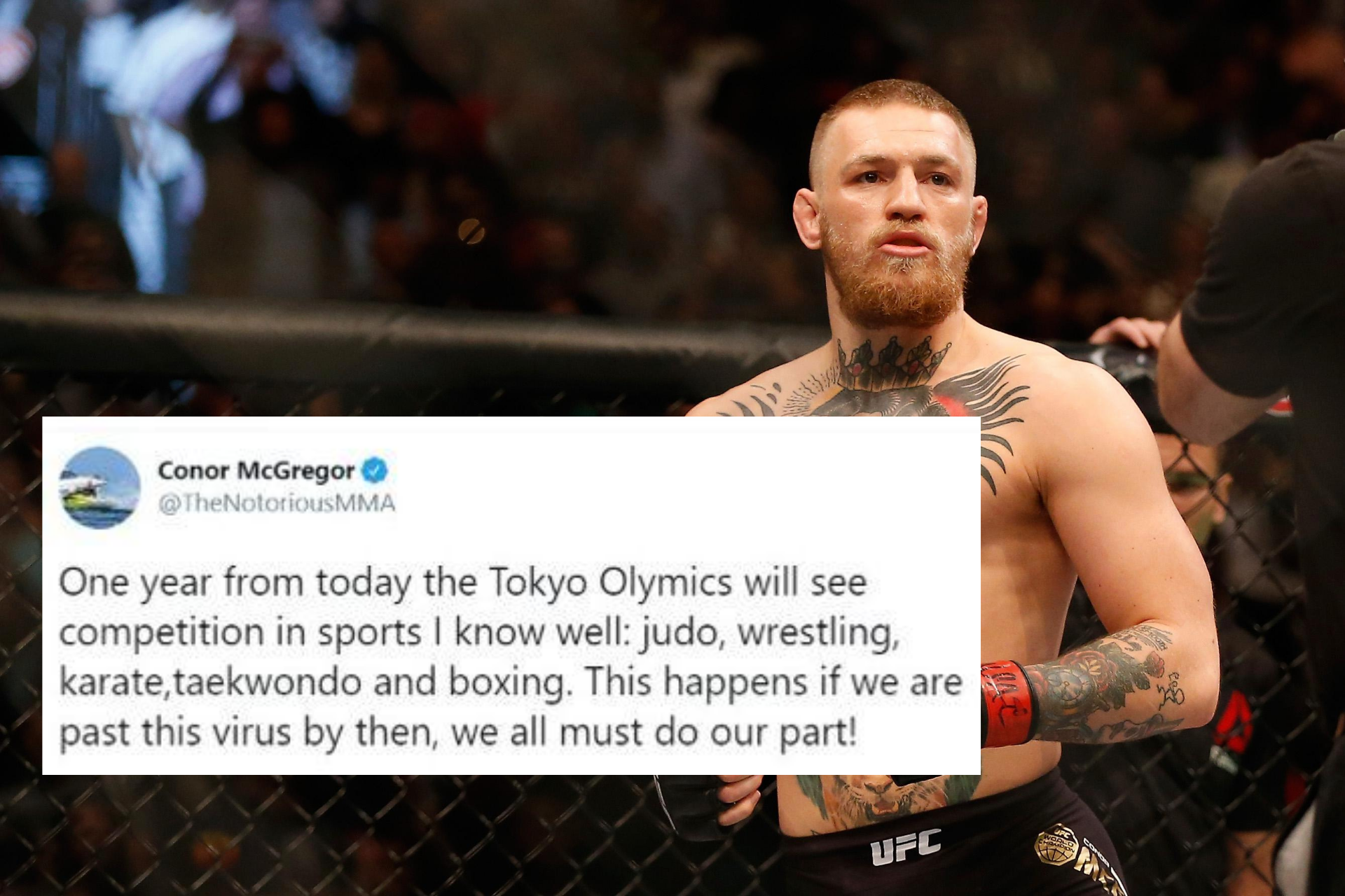 Conor McGregor hints that he may be taking part in Tokyo Olympics - Conor McGregor