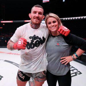 Austin Vanderford with Paige Vanzant