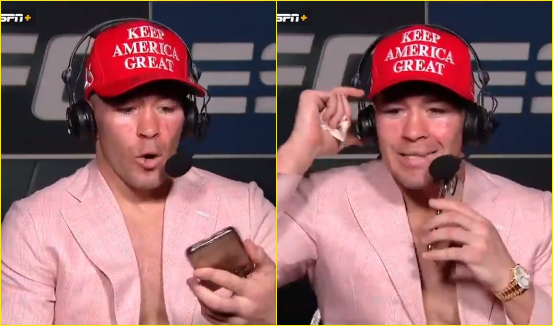 Watch: Colby Covington gets a call from President Donald Trump during an interview - Covington