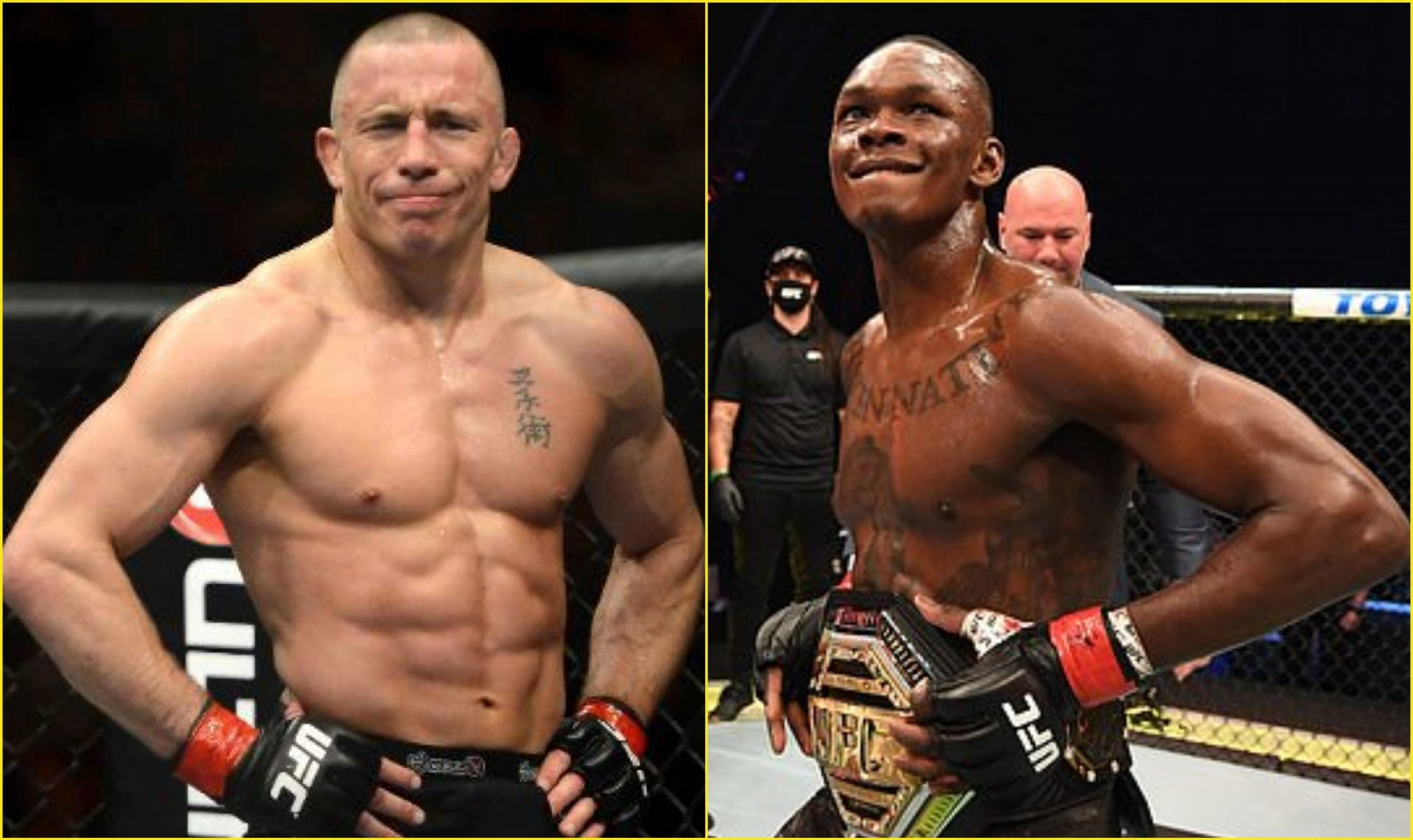 George St-Pierre hails Adesanya as the 'Perfect Fighter' - Adesanya